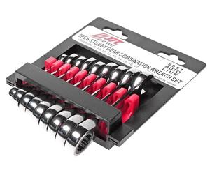 Набор ключей комбинированных трещоточных 8-17мм 9 предметов в холдере укороченные JTC-5051