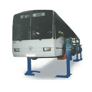 Подъемник для автобусов и сцепок шестистоечный электромеханический на 30т ПП-30